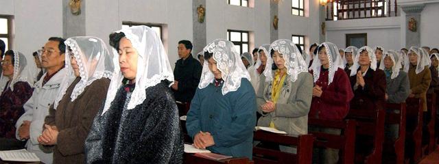 Christen in Kirche in Nordkorea