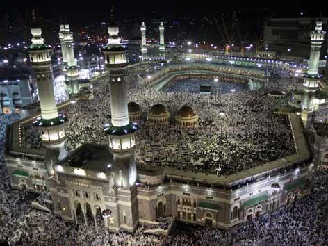 Luftbild der großen Moschee in Mekka.