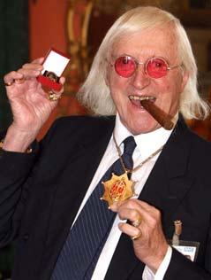 BBC-Moderator Jimmy Savile 2008 mit Orden