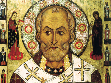 Russische Ikone des heiligen Nikolaus aus dem Jahr 1294