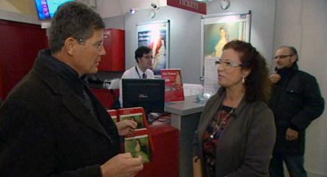 Im Bild: Karl Hohenlohe mit Olivia Lichtscheidl (Kuratorin Sisi Museum)
