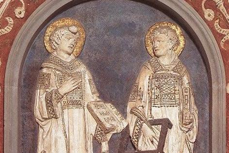 Relief mit Stephanus und Laurentius