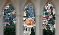 Der heilige Schrein der Baha'i in Haifa (Israel).