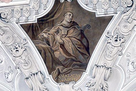 Darstellung des Heiligen Malachias auf einem Fresko in Metten (Niederbayern)
