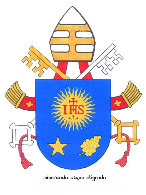 Das Wappen von Papst Franziskus