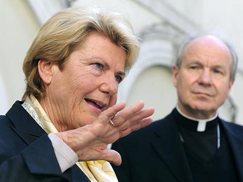 Waltraud Klasnic und Kardinal Christoph Schönborn