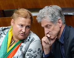 Die Nationalratsabgeordneten Petra Bayr und Josef Cap (SP)