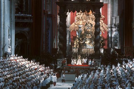 Eröffnungsgottesdienst des Zweiten Vatikanischen Konzils im Petersdom in Rom