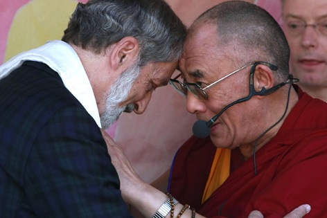 Heinz Nußbaumer und der Dalai Lama