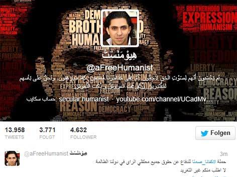 Raif Badawi auf Twitter
