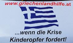 Buslogo: www.griechenlandhilfe.at ...wenn die Krise Kinderopfer fordert.