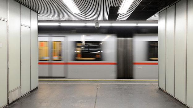 Station der Wiener U-Bahn Linie U1