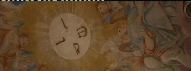 Deckenfresko der Stiftskirche Michaelbeuern mit der Darstellung des offenen Himmels