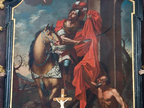 Heiliger Martin auf historischen Kirchenbildern