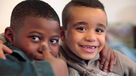 Kinder im Lerncafe der Caritas