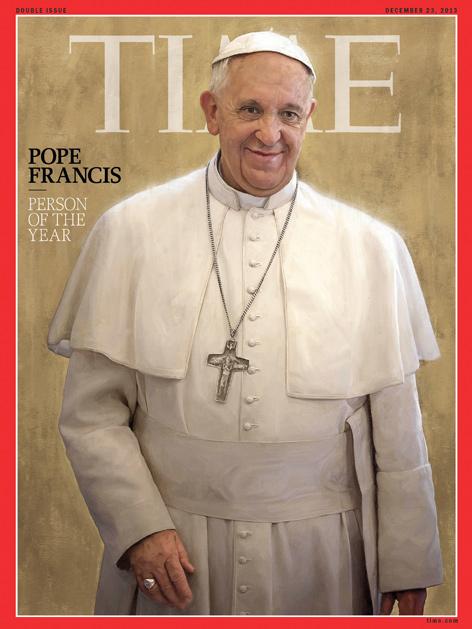 """Papst Franziskus auf dem Cover des """"Time Magazine"""""""