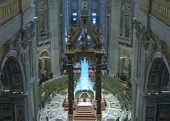 Petersdom, Altartotale von oben