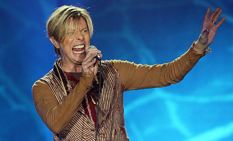 David Bowie auf der Bühne