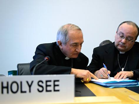 Anhörung des Vatikans zum Thema Kindesmissbrauch vor der UNO in Genf