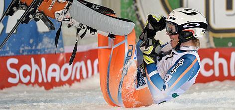Henrik Kristoffersen jubelt über seinen Sieg beim Nachtslalom von Schladming.