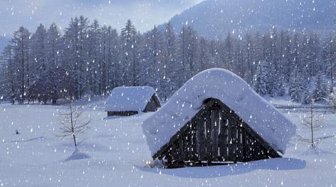 Eine Winterlandschaft.