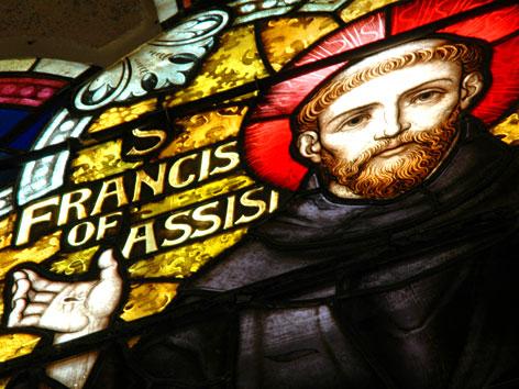 Kirchenfenster mit Franz von Assisi