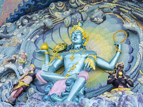 Mosaik eines Hindu-Gottes