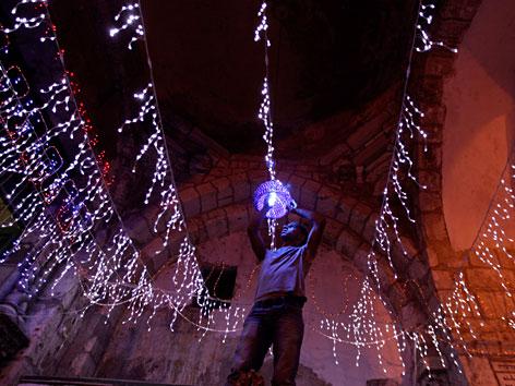 Ramadan-Beleuchtung in Jerusalem