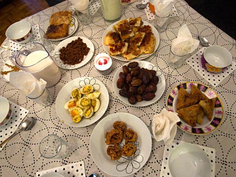 Traditionelle Speisen zum Fastenbrechen