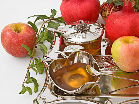 Äpfel, Honig und Granatäpfel zu Rosch Ha-Schana