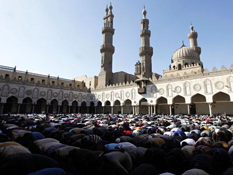 Die Al-Azhar-Moschee in Kairo, Ägypten