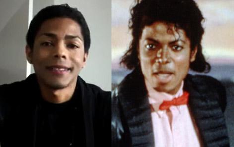 Fotovergleich von Brandon Howard und Michael Jackson
