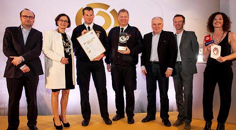 Die Preisträger der Ö3-Verkehrsawards.