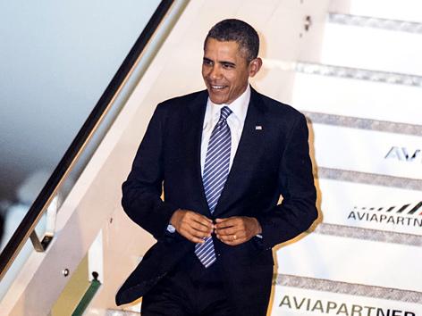 US-Präsident Barack Obama bei seiner Ankunft auf dem Flughafen in Rom