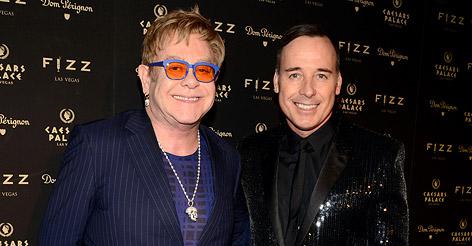 Elton John und sein Partner David Furnish