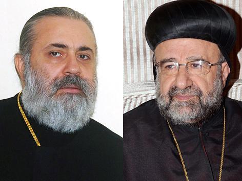 Bischöfe Boulos Jasidschi (li.) und Mar Gregorios Johanna Ibrahim (re.)