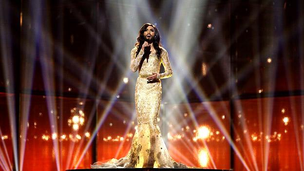 Conchita Wurst auf der Song-Contest-Bühne.