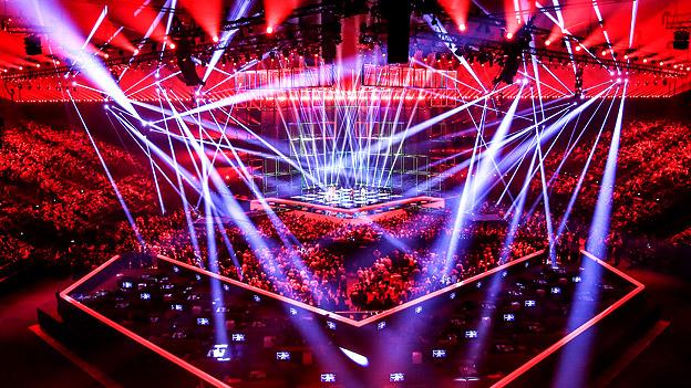 Blick auf die Song-Contest-Bühne