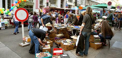 Flohmarkt in der Neubaugasse