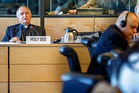 Erzbischof Silvano Tomasi beim Uno-Anti-Folter-Komitee