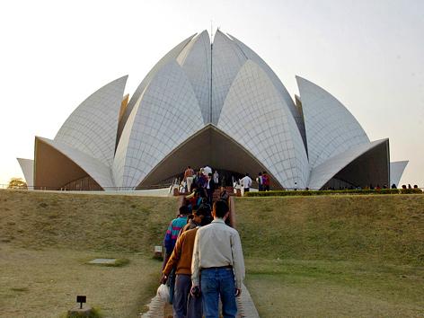 Lotus-Tempel der Bahai in New Delhi, Indien