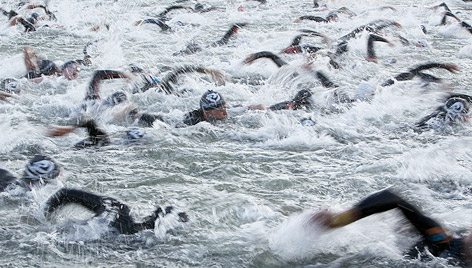 Schwimmer beim Ironman