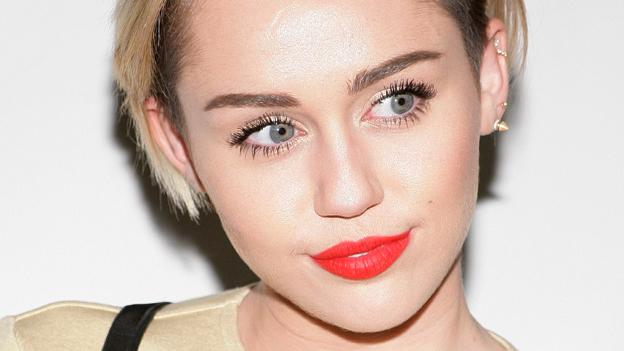 Miley Cyrus auf der Bühne