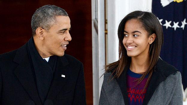 Malia und Barack Obama