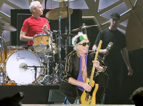 Die Rolling Stones live auf der Bühne im Ernst Happel Stadion in Wien