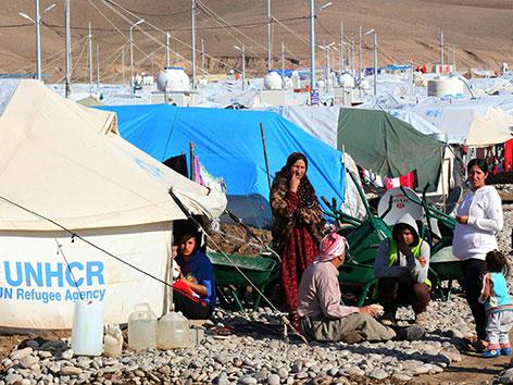 Ein Flüchtlingslager des UNHCR für irakische Flüchtlinge