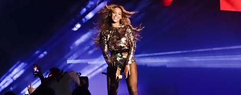 Beyonce auf der Bühne