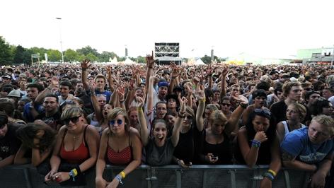Besucher beim Frequency Festival