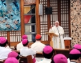 Papst Franziskus bei einem Treffen mit Asiatischen Bischöfen