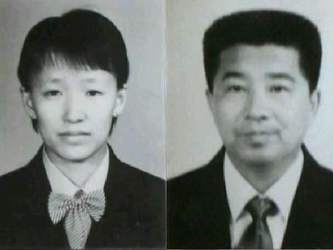 Church of almighty god. Der weibliche Jesus Lightning Deng und Gründer Zhao Weishan.